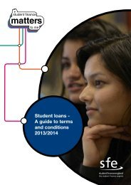 Student loans - A guide to terms and conditions 2013/14
