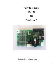Piggy-back board (Rev 2) for Raspberry Pi - BASIS Shop