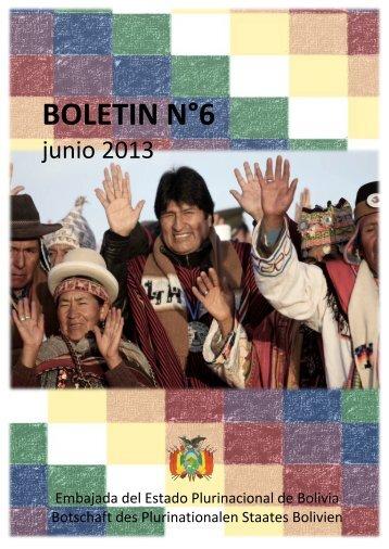 BOLETÍN N°6 junio 2013 - Bolivien