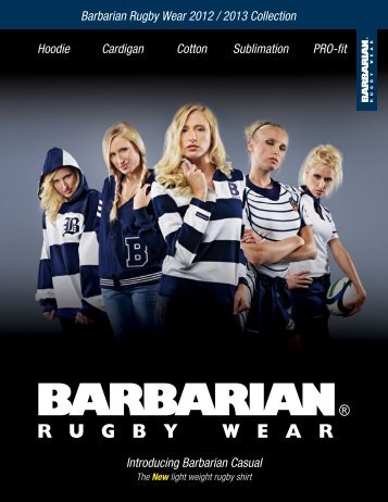 Barbarian Rugby Wear 2012 / 2013 Collection Hoodie Cardigan ...