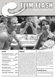 Rundbrief Elim Flash September 2013 als PDF ansehen / downloaden