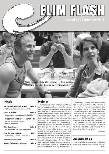 Rundbrief Elim Flash September 2013 als PDF ansehen / downloaden