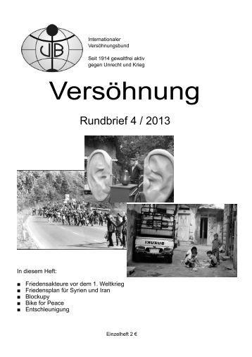 Rundbrief 4/2013 - Internationaler Versöhnungsbund