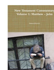 New Testament Commentary [1] - Duncan Heaster