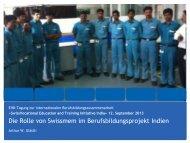 Die Rolle von Swissmem im Berufsbildungsprojekt Indien - SkillSonics