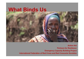 What Binds Us - PreventionWeb