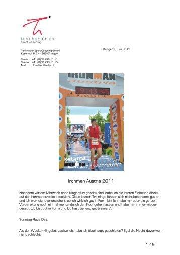Ironman Austria 2011 - Toni Hasler GmbH