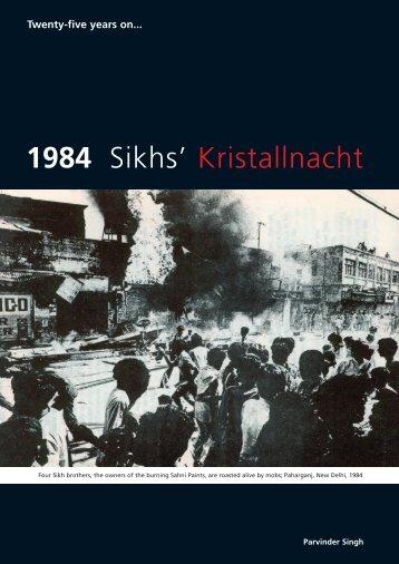 """1984 Sikhs' Kristallnacht"" PDF - Ensaaf"