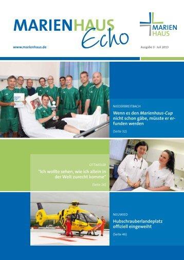 3/2013 - Marienhaus Unternehmensgruppe