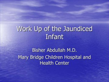 Work Up of the Jaundiced Infant - American Liver Foundation