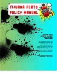 Policy Manual 9.2013 - Tijuana Flats