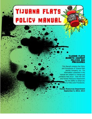 Policy Manual 9.2013 - Tijuana Flats