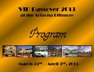 View last year's program - VIP Passover