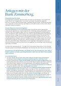 """Broschüre """"Anlegen & Verwalten"""" - BANK ZIMMERBERG - Seite 5"""