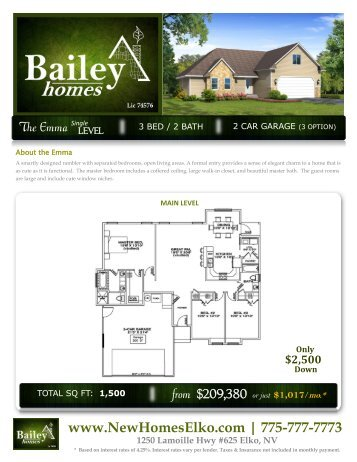 PRINT Floor Plan - New Homes Elko