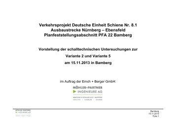 schalltechnische Untersuchung - Verkehrsprojekt der Deutschen ...