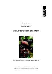 Die Leidenschaft der Wölfe - Rowohlt Theaterverlag