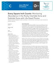Every Square Inch Counts: Monitoring Abundance in the ... - PBS