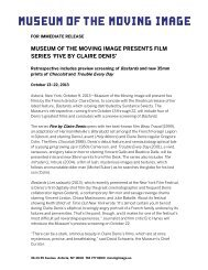 museum of the moving image presents film series 'five by claire denis'