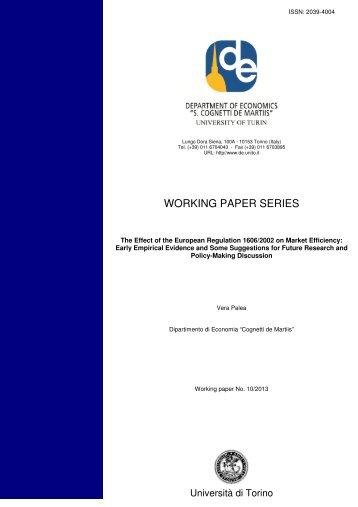 WORKING PAPER SERIES - Università degli Studi di Torino