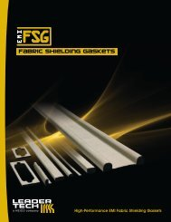 Fabric Shielding Gaskets Catalog (PDF) - Leader Tech