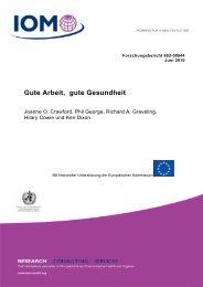 Gute Arbeit, gute Gesundheit - European Telecommunications ...