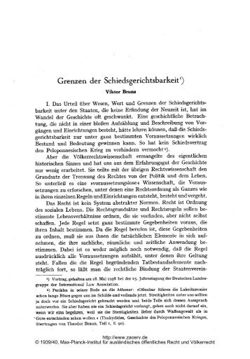 Grenzen der Schiedsgerichtsbarkeit - Zeitschrift für ausländisches ...