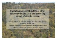 Projecting potential habitats of Pinus koraiensis in East Asia and ...