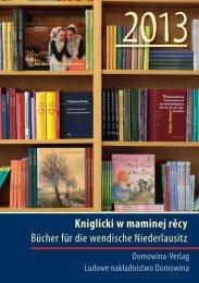 Kniglicki w maminej rěcy Bücher für die wendische Niederlausitz