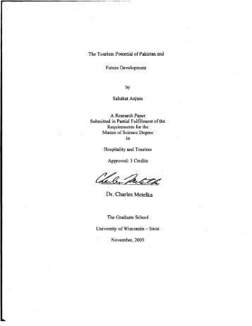 Dr. Charles Metelka - University of Wisconsin-Stout