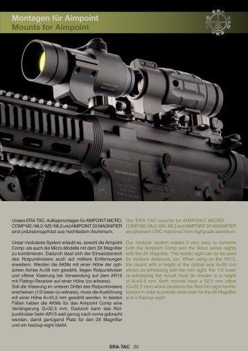 Datenblatt Montagen für Aimpoint - bei ERA TAC Tactical Mounts