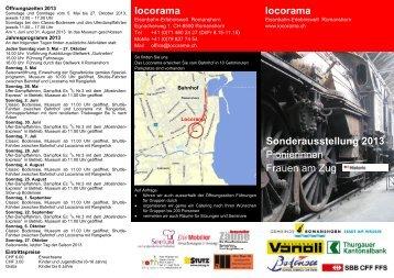 Flyer zum Jahr 2013 - Locorama