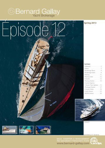 Episode 12 of BGYB Newsletter - Bernard Gallay Yacht Brokerage
