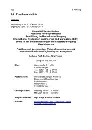 Richtlinie für die praktische Ausbildung im ... - Maschinenbau