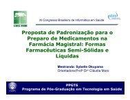Proposta de Padronização para o Preparo de Medicamentos ... - SBIS