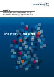 ARD-DeutschlandTREND Oktober 2013 ... - Infratest dimap