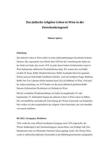 Das religiöse jüdische Leben in der Zwischenkriegszeit - Misrachi ...