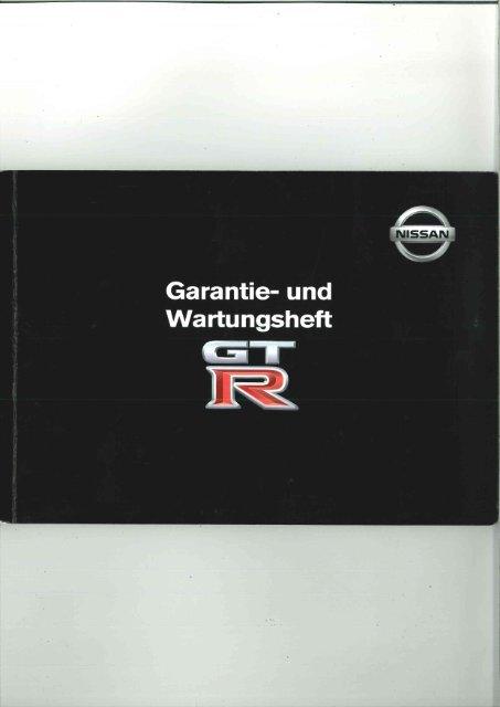 Page 1 Page 2 GARANTIEBESCHEINIGUNG NISSAN GT-R PAN ...