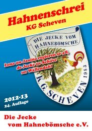 Hahnenschrei - Dorfgemeinschaft Scheven eV