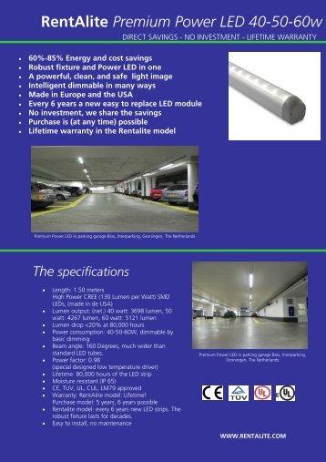 RentAlite Premium power LED 40-50-60 watt EU