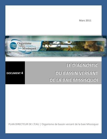 LE DIAGNOSTIC DU BASSIN VERSANT DE LA BAIE MISSISQUOI