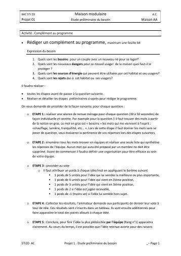 étude préliminaire du besoin - Académie de Nancy-Metz
