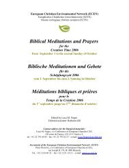 Biblical Meditations and Prayers for the Creation Time 2006