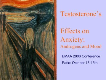 Testosterone's Effects on Anxiety: