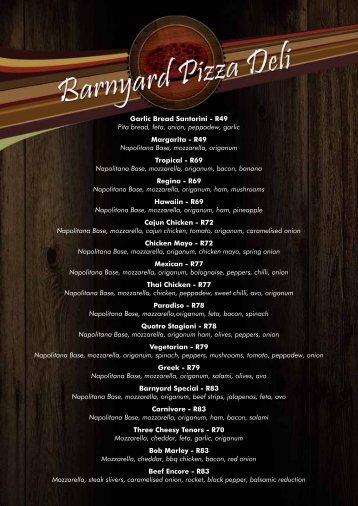 R49 Napolitana Base, mozzarella, origanum Tro - The Barnyard ...
