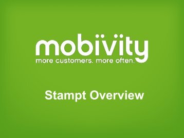 Learn More About Stampt - Mobivity