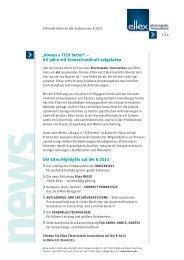 """Die Eltex Highlights auf der K 2013 """"Always a TICK better"""" – 60 ..."""