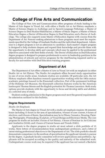 College of Fine Arts and Communication - Lamar University