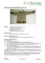 downloaden - kostenlose Anleitung - Pullover mit ... - Der Faden