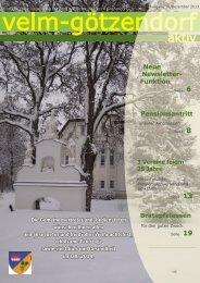 Gemeindezeitung Winter 2013 - Velm-Götzendorf